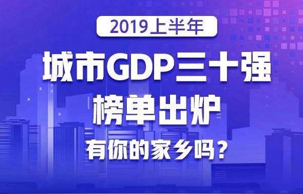 2019上半年城市GDP三十强榜单出炉  广西城市未上榜